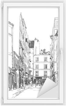 Window & Glass Sticker street near Montmartre in Paris