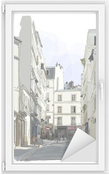 street near Montmartre in Paris Window & Glass Sticker