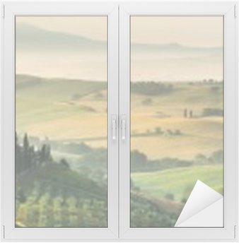 summer landscape of Tuscany, Italy. Window & Glass Sticker