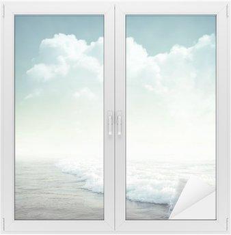 tropical background Window & Glass Sticker