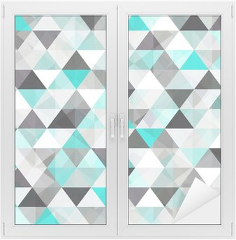 turquoise shiny vector background Window & Glass Sticker