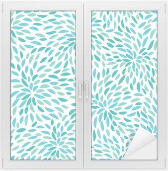 Vector flower pattern. Seamless floral background. Window & Glass Sticker