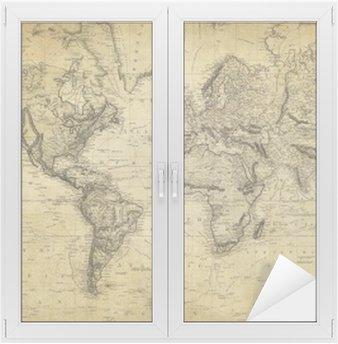 Window & Glass Sticker vintage map of the world 1814..