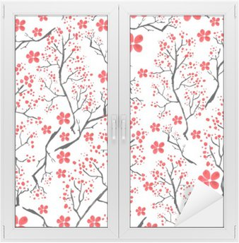 Vintage watercolor pattern - decorative branch cherries, cherry, plants, flowers, elements. It can be used in the design, packaging, textiles and so on.