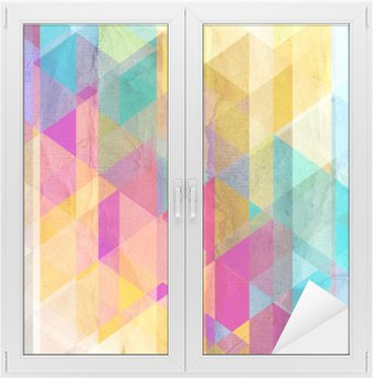 Watercolor geometric background with triangles Window & Glass Sticker