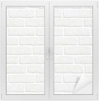 Window & Glass Sticker white brick wall background