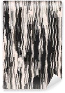 Yıkanabilir Duvar Resmi Abstract grunge vector background. düzensiz grafik öğelerin siyah-beyaz raster bileşimi.