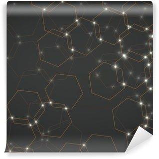 Yıkanabilir Duvar Resmi Altıgen hücrelerin arka plan, geometrik tasarım vektör çizim 10 eps