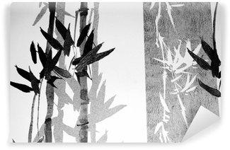 Yıkanabilir Duvar Resmi Bambu doku