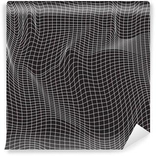 Yıkanabilir Duvar Resmi Beyaz çizgiler, soyutlama kompozisyon, dağlar, vektör tasarım arka plan