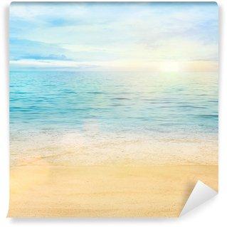 Yıkanabilir Duvar Resmi Deniz ve kum arka plan