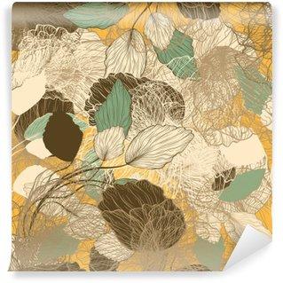 Yıkanabilir Duvar Resmi Dikişsiz soyut floral pattern