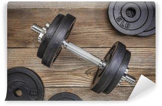 Yıkanabilir Duvar Resmi Egzersiz ağırlıkları