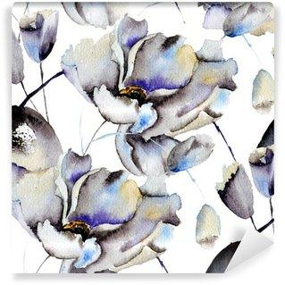 Yıkanabilir Duvar Resmi Güzel çiçekler Dikişsiz desen