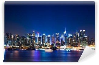 Yıkanabilir Duvar Resmi New York Manhattan silüeti