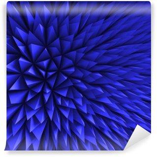 Yıkanabilir Duvar Resmi Özet Poligon Kaotik Mavi Arkaplan