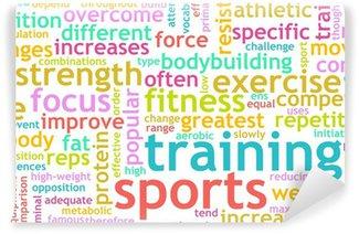 Yıkanabilir Duvar Resmi Spor eğitimi