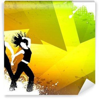 Yıkanabilir Duvar Resmi Zumba dans spor