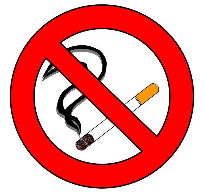Obraz na Płótnie Zakaz palenia proszę 5 - Znaki i symbole