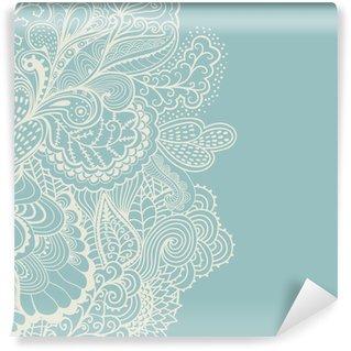 Zelfklevend Fotobehang Decoratief element grens. Abstracte uitnodigingskaart. Sjabloon wa