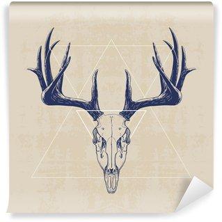 Zelfklevend Fotobehang deer skull