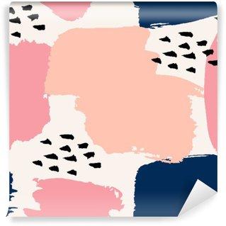 Zelfklevend Fotobehang Hand getekende abstracte Naadloze Patroon