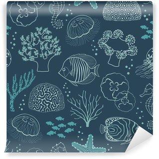 Zelfklevend Fotobehang Onderwaterleven patroon