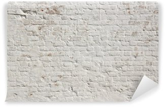 Zelfklevend Fotobehang Witte grunge bakstenen muur achtergrond