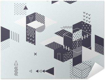 Zelfklevende Poster Abstracte moderne geometrische achtergrond