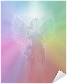 Zelfklevende Poster Engel van Goddelijk Licht, zachte vervaging
