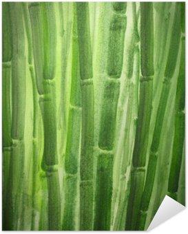 Zelfklevende Poster Groene bamboe