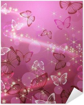 Zelfklevende Poster Vlinder 々