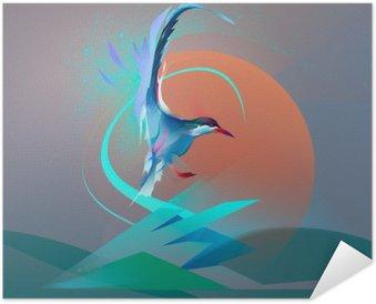 Zelfklevende Poster Vogel zeemeeuw stern