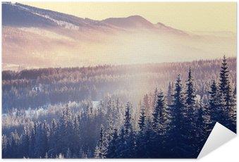 Zelfklevende Poster Winter de bergen
