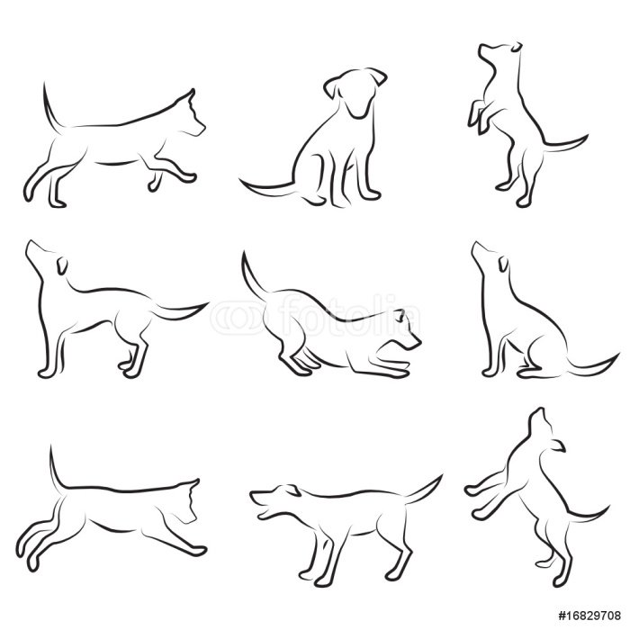 Pixerstick na Wszystko Zestaw rysunek psa - Ssaki