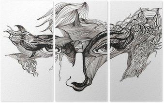 Abstrakcyjne ozdobione twarz (seria C)