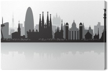 Barcelona Hiszpania sylwetka panoramę miasta