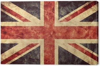 Flaga grunge Wielka Brytania. Kolekcja Vintage flagi