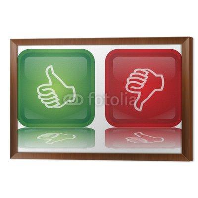 Wektor Thumbs Up & Down przyciski (Feedback - Positive - Negative)
