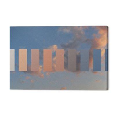 Niebo Tekstura i chmur o zachodzie słońca