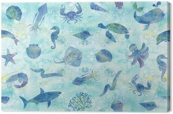 Bezszwowe tło morskich
