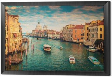 Canal Grande w Wenecji, Włochy. stosowane filtr kolorów.