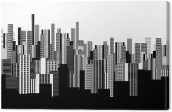 Większość dwóch kolorach graficzny streszczenie miejskiego krajobrazu tapetę w czerni i bieli
