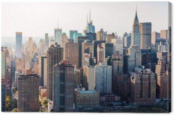 Widok z lotu ptaka na panoramę Nowego Jorku