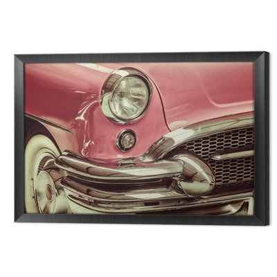 Retro styled image of a front of a classic car