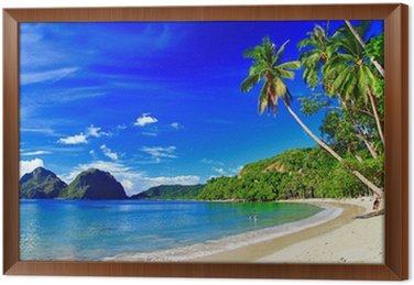 Panoramiczny piękna plaża scenerii - el-Nido, Palawan