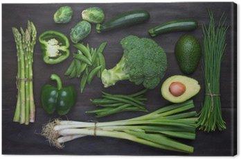 Świeże zielone warzywa organiczne