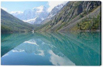 _Отражение Гор Сказка и Красавица в Большом Шавлинском озере, Горный Алтай, Россия