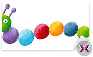Zabawne kolorowe caterpillar