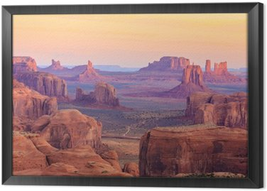 Sunrise in Hunts Mesa in Monument Valley, Arizona, USA